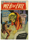 "Golden Age (1938-1955):Horror, Web of Evil #6 Davis Crippen (""D"" Copy) pedigree (Quality, 1963)Condition: FN-...."