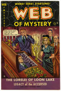 "Golden Age (1938-1955):Horror, Web of Mystery #2 Davis Crippen (""D"" Copy) pedigree (Ace, 1951)Condition: VF-...."