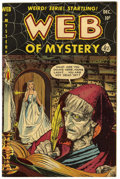 "Golden Age (1938-1955):Horror, Web of Mystery #6 Davis Crippen (""D"" Copy) pedigree (Ace, 1951)Condition: VF+...."
