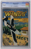 """Golden Age (1938-1955):War, Wings Comics #41 Davis Crippen (""""D"""" Copy) pedigree (Fiction House,1944) CGC VF/NM 9.0 Off-white to white pages...."""