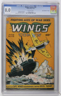"Golden Age (1938-1955):War, Wings Comics #58 Davis Crippen (""D"" Copy) pedigree (Fiction House,1945) CGC VF 8.0 Off-white pages...."