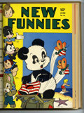 Golden Age (1938-1955):Humor, New Funnies #66-77 Bound Volume (Dell, 1942-43)....