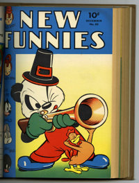 New Funnies #78-89 Bound Volume (Dell, 1943-44)