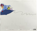Animation Art:Production Cel, Dick Dastardly and Muttley Animation Production Cel and Clean-UpDrawing Original Art, Group of 2 (Hanna-Barbera, undated)....(Total: 2)