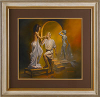 "Boris Vallejo - ""Pygmalion and Galatea"" 1989 Calendar Painting Original Art (1988)"