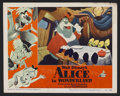 "Movie Posters:Animated, Alice in Wonderland (RKO, 1951). Lobby Card (11"" X 14""). AnimatedMusical. Starring the voices of Kathryn Beaumont, Ed Wynn,..."