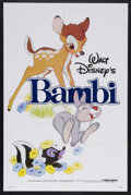 "Movie Posters:Animated, Bambi (Buena Vista, R-1982). One Sheet (27"" X 41""). Animated Drama.Starring the voices of Bobby Stewart, Donnie Dunagan, Ha..."