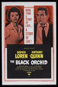 "Movie Posters:Romance, The Black Orchid (Paramount, 1958). One Sheet (27"" X 41""). Romance. Starring Sophia Loren, Anthony Quinn, Mark Richman and I..."