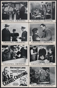 "Channel Crossing (Gaumont British Picture Corp., 1933). British Lobby Card Set of 8 (11"" X 14""). Crime Drama..."