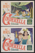 "Movie Posters:Animated, Cinderella (RKO, 1950). Lobby Cards (2) (11"" X 14""). Animated Musical. Starring the voices of Ilene Woods, Eleanor Audley, V... (Total: 2 Items)"