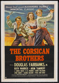 """Movie Posters:Adventure, The Corsican Brothers (United Artists, 1941). One Sheet (27"""" X41""""). Adventure. Starring Douglas Fairbanks Jr., Ruth Warrick..."""