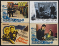 "Movie Posters:War, Edge of Darkness (Warner Brothers, 1943). Title Lobby Card (11"" X14"") and Lobby Cards (2) (11"" X 14""). War Drama. Starring ...(Total: 4 Items)"