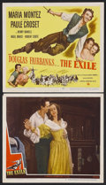 "Movie Posters:Adventure, The Exile (Universal, 1947). Title Lobby Card (11"" X 14"") and LobbyCard (11"" X 14""). Romantic Adventure. Starring Douglas F... (Total:2 Items)"