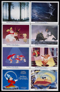 "Movie Posters:Animated, Fantasia (Buena Vista, R-1982). Lobby Card Set of 8 (11"" X 14"").Animated Musical. Starring Leopold Stokowski and the voices...(Total: 8 Items)"