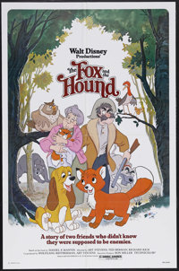 "The Fox and the Hound (Buena Vista, 1981). One Sheet (27"" X 41""). Animated. Starring the voices of Mickey Roon..."