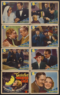 "The Garden Murder Case (MGM, 1936). Lobby Card Set of 8 (11"" X 14""). Mystery. Starring Edmund Lowe, Virginia B..."