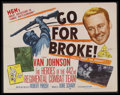 "Movie Posters:War, Go for Broke! (MGM, 1951). Half Sheet (22"" X 28""). War. StarringVan Johnson, Gianna Maria Canale, Kane Nakano, George Miki,..."
