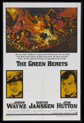 "Movie Posters:War, The Green Berets (Warner Brothers, 1968). One Sheet (27"" X 41"").War. Starring John Wayne, David Janssen, Jim Hutton, Aldo R..."