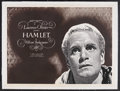 """Movie Posters:Drama, Hamlet (Rank, R-1950s). British Quad (30"""" X 40""""). Laurence Olivier became the first person to direct himself to a Best Actor..."""