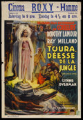 "Movie Posters:Adventure, Her Jungle Love (Paramount, 1938). Pre-War Belgian (24"" X 35"").Adventure. Starring Dorothy Lamour, Ray Milland, Lynne Overm..."