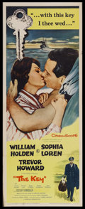 "Movie Posters:Romance, The Key (Columbia, 1958). Insert (14"" X 36""). Romance. Starring William Holden, Sophia Loren, Trevor Howard and Kieron Moore..."