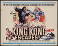 "Movie Posters:Science Fiction, King Kong Escapes (Toho, 1967). Half Sheet (22"" X 28""). Sci-Fi Action. Starring Rhodes Reason, Linda Miller, Mie Hama, Akira..."