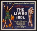 "Movie Posters:Adventure, The Living Idol (MGM, 1956). Half Sheet (22"" X 28""). Adventure.Starring Steve Forrest, Liliane Montevecchi, James Robertson..."