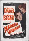 """Movie Posters:Crime, Marked Woman (Warner Brothers, R-1947). One Sheet (27"""" X 41"""").Crime. Typical of Warner Brothers during the 1930s, the studi..."""
