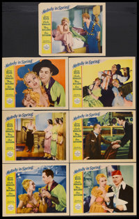 """Melody in Spring (Paramount, 1934). Lobby Cards (7) (11"""" X 14""""). Musical. Starring Lanny Ross, Charlie Ruggles..."""