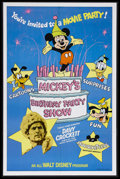 "Movie Posters:Adventure, Mickey's Birthday Party Show (Buena Vista, 1978). One Sheet (27"" X41""). This was a re-release package for Disney's very pop..."