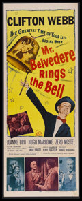 "Movie Posters:Comedy, Mr. Belvedere Rings the Bell (20th Century-Fox, 1951). Insert (14"" X 36""). Comedy. Starring Clifton Webb, Joanne Dru, Hugh M..."