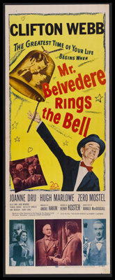 "Mr. Belvedere Rings the Bell (20th Century-Fox, 1951). Insert (14"" X 36""). Comedy. Starring Clifton Webb, Joan..."