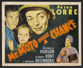 """Movie Posters:Mystery, Mr. Moto Takes a Chance (20th Century Fox, 1938). Title Lobby Card (11"""" X 14""""). Mystery. Starring Peter Lorre, Rochelle Huds..."""