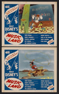 "Movie Posters:Animated, Music Land (RKO, 1955). Lobby Cards (2) (11"" X 14""). Animated Musical. Starring the music of Fred Waring, Benny Goodman, Roy... (Total: 2 Items)"