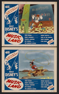 """Music Land (RKO, 1955). Lobby Cards (2) (11"""" X 14""""). Animated Musical. Starring the music of Fred Waring, Benn..."""