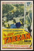 "Movie Posters:Serial, The New Adventures of Tarzan (Burroughs-Tarzan-Enterprise, 1935). One Sheet (27"" X 41"") Chapter 3 -- ""The Devil's Noose."" Se..."