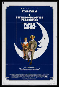 "Paper Moon (Paramount, 1973). One Sheet (27"" X 41""). Comedy/Drama. Starring Ryan O'Neal, Tatum O'Neal, Madelin..."