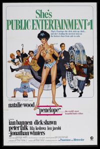 "Penelope (MGM, 1966). One Sheet (27"" X 41""). Crime Comedy. Starring Natalie Wood, Jonathan Winters and Peter F..."