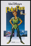 "Movie Posters:Animated, Peter Pan (Buena Vista, R-1982). One Sheet (27"" X 41""). Animated Fantasy. Starring the voices of Bobby Driscoll, Kathryn Bea..."