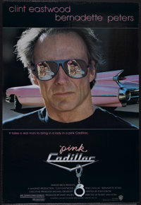 """Pink Cadillac (Warner Brothers, 1989). One Sheet (27"""" X 41""""). Action Comedy. Starring Clint Eastwood, Bernadet..."""