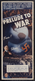 "Movie Posters:Documentary, Prelude to War (War Activities Committee, 1943). Insert (14"" X 36""). War Documentary. Directed by Frank Capra and Anatole Li..."