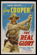 "Movie Posters:War, The Real Glory (United Artists, 1939). One Sheet (27"" X 41""). War.Starring Gary Cooper, Andrea Leeds, David Niven, Reginald..."