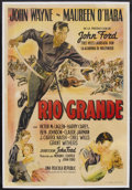 "Movie Posters:Western, Rio Grande (Republic, 1950). Argentinian One Sheet (29"" X 43""). Western. John Ford directed this romantic action film set ju..."