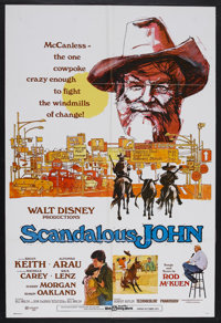 "Scandalous John (Buena Vista, 1971). One Sheet (27"" X 41""). Western Comedy. Starring Brian Keith. Alfonso Aura..."