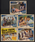 """Movie Posters:Drama, The Ship from Shanghai (MGM, 1930). Title Lobby Card (11"""" X 14"""") and Lobby Cards (4) (11"""" X 14""""). Drama. Starring Louis Wolh... (Total: 5 Items)"""