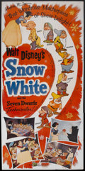 "Movie Posters:Animated, Snow White and the Seven Dwarfs (Buena Vista, R-1958). Three Sheet(41"" X 81""). Walt Disney had entertained the idea of prod..."