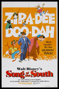 "Movie Posters:Animated, Song of the South (Buena Vista, R-1980). One Sheet (27"" X 41""). Animated/Live Action. Starring James Baskett, Anita Brown, B..."