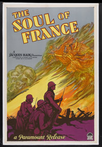 "The Soul of France (Paramount, 1929). One Sheet (27"" X 41"") Style A. War. Starring Georges Charlia, Mich&egrav..."