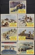 """Movie Posters:War, They Came to Cordura (Columbia, 1959). Title Lobby Card (11"""" X 14"""")and Lobby Cards (6) (11"""" X 14""""). War. Starring Gary Coop... (Total:7 Items)"""