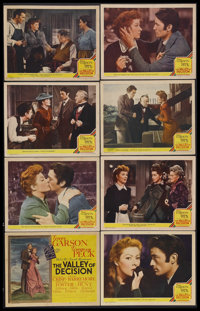 """The Valley of Decision (MGM, 1945). Lobby Card Set of 8 (11"""" X 14""""). Drama. Starring Greer Garson, Gregory Pec..."""